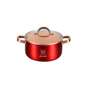 olla original roja de 18cm roja y dorada