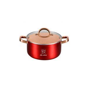 olla original roja y cobre de 16 centimetros