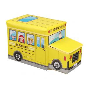 Puff infantil bus escolar para almacenaje