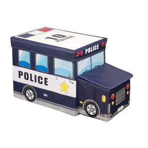 Coche de policia puff de almacenaje