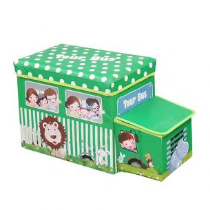 Caja almacenaje para niños tour bus verde